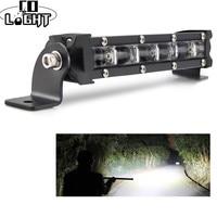 """CO lumière 30W 6D LED barre lumineuse de travail 8 """"projecteur faisceau d'inondation Auto conduite antibrouillard barre de lampe LED tout-terrain pour Lada SUV camions ATV"""