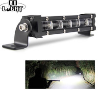 CO LIGHT 30W 6D LED Work Light Bar 8 Spotlight Flood Beam Auto Driving Fog Lamp Offroad LED Light Bar for Jeep SUV Trucks ATV