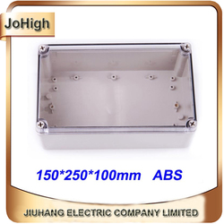 Free Shipping Top Quality PVC Cover ABS body Transparent Cover IP66 Plastic Waterproof Enclosures 150*250*100mm