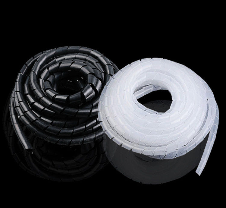 5M Black 3mm 4mm 5mm 6mm Diameter Computer PC TV Cord Manage Wire Cable Sleeve Casing Winding Tube Flexible Spiral Wrapping Band