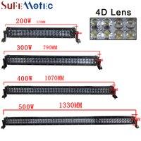 SufeMotec 4D 22 Inch 200W 42 Inch 400W 52 Inch 500W Straight LED Light Work Bar