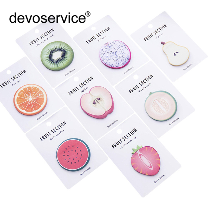 Kawaii Fruit Sticky Note Memo Pad Post Note Office Planner N Times Sticker Paper Decoration Stationery Office School Supplies