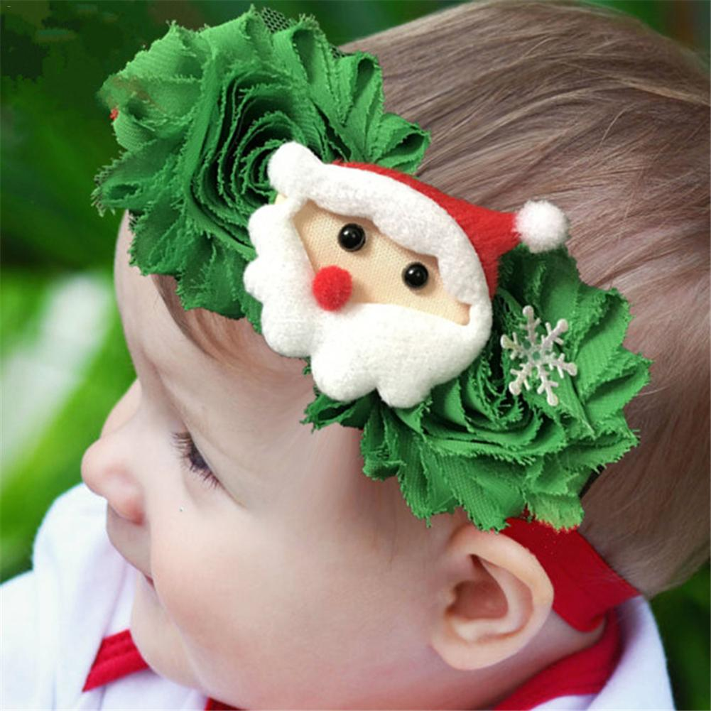 Newborn Baby's Christmas new Cartoon Pattern Hair Band Baby Christmas Decoration Santa Clause Headband Hair Accessories