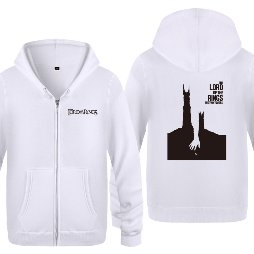 The Lord of the Rings The Two Towers Hoodies Men 2018 Men's Fleece Zipper Cardigans Hooded Sweatshirts