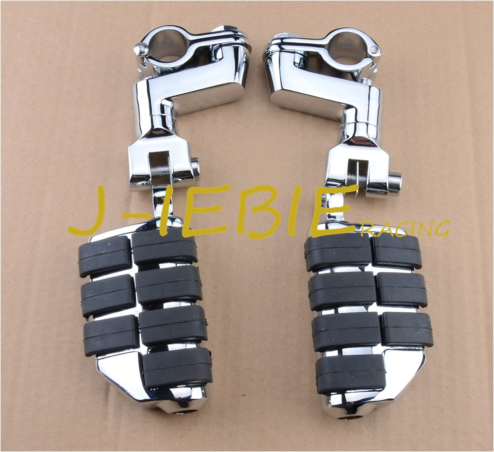Chrome Foot Rest Foot Pegs For <font><b>Yamaha</b></font> V-STAR XVS1300 XVS650 <font><b>XVS950</b></font> image