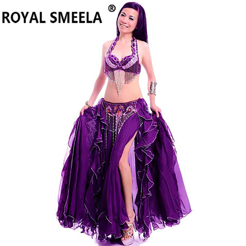 Offre spéciale livraison gratuite nouveau design haut de gamme danse du ventre ensemble/costume/danse du ventre vêtements/bellydance jupe robe 268 Argus