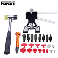 цена на PDR tools Paintless dent removal tools dent puller dent removal metal tabs tap down pen rubber hammer hand tools auto repair
