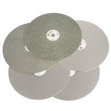"""8 """"inç 200mm Grit 60 3000 kaba ince elmas aşındırıcı tekerlekler taşlama disk disk kaplı düz lap Disk Lapidary araçları taş"""