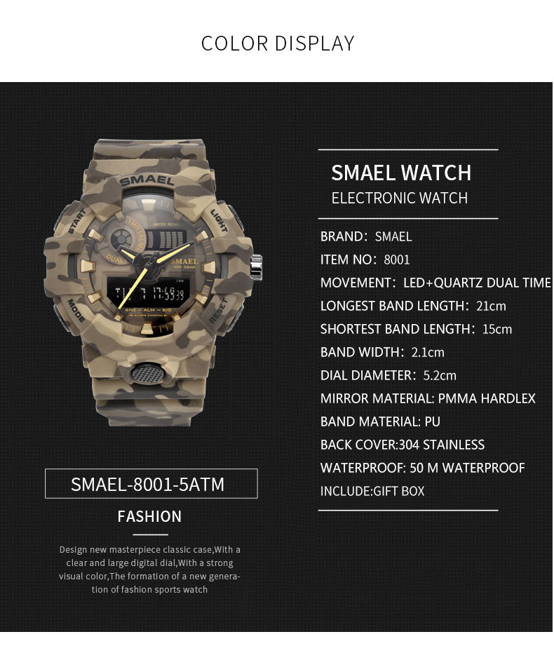 14 mens army style watch