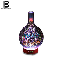 Creative Glass Ultrasound Aroma Lamp Essential Oil Humidifier Color Plug In Incense Burner Night Light Christmas Gift Home Decor