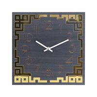Creative Wooden Square Wall Clock Simple Chinese Acrylic Slient Quartz Watch Arabic Numbers Hanging Wood Wall Clock Home Decor