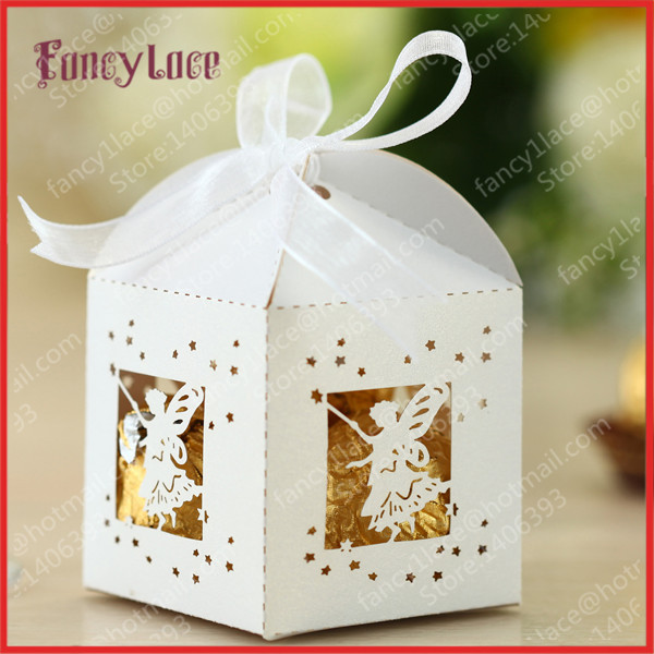 50pcs New Item Laser Cut Spirit Candy Box Gift Favor Boxes Elegant