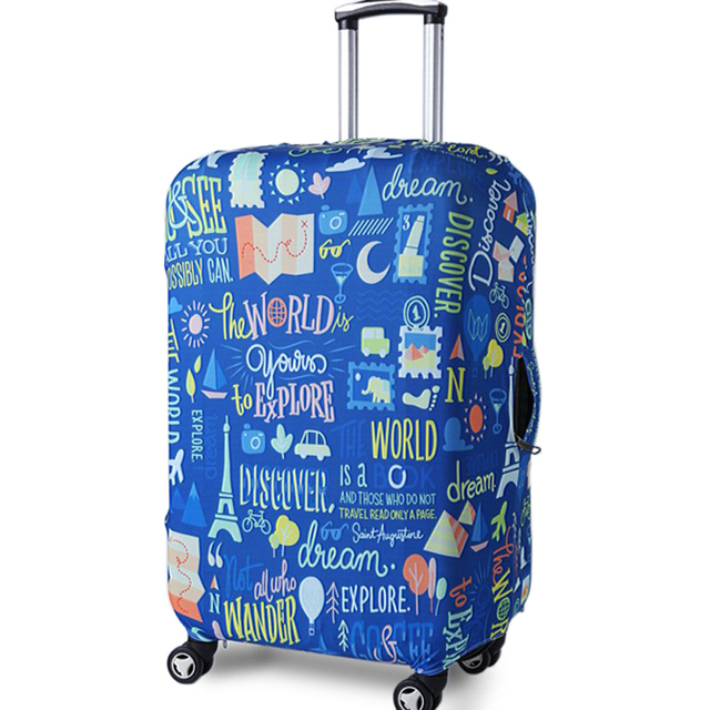 TRIPNUO Thicker Blue City Luggage Cover Travel Suitcase Protective Cover for Trunk Case Apply to 19''-32'' Suitcase Cover 3