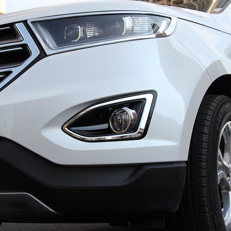 Ford Edge Accessories >> Us 13 56 21 Off For Ford Edge 2015 2016 2017 Car Styling Accessories Abs Chrome Car Front Fog Lamp Light Panel Cover Trim In Chromium Styling From