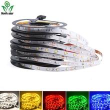 5 м, 300 светодиодов, не водонепроницаемый RGB светодиодный светильник, 2835 12 В постоянного тока, 60 светодиодов/м, гибкий светильник, лента, лента, белая/теплая белая/RGB лента