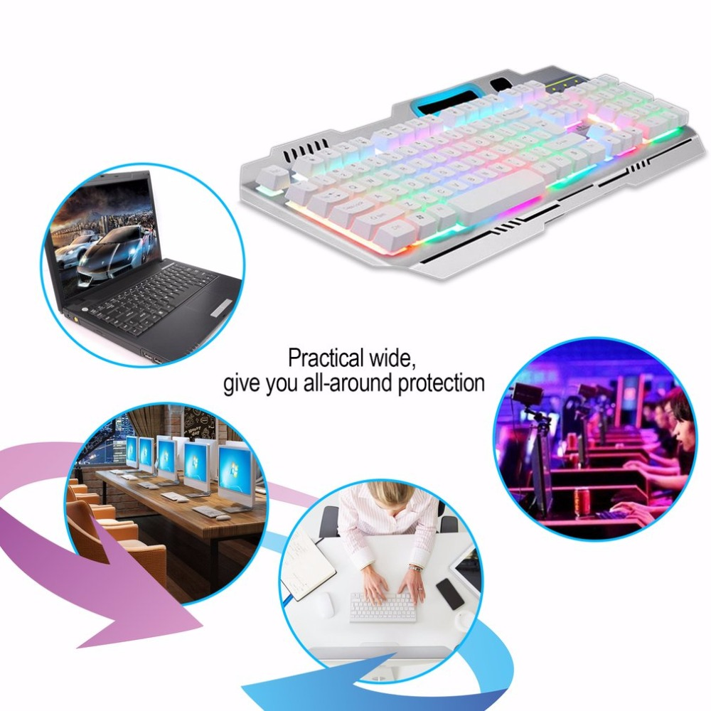 Metal Cable Mechanical Colorful Backlit Keyboard Gaming Keyboard Keycap Single Bar Game Suspension Keyboard