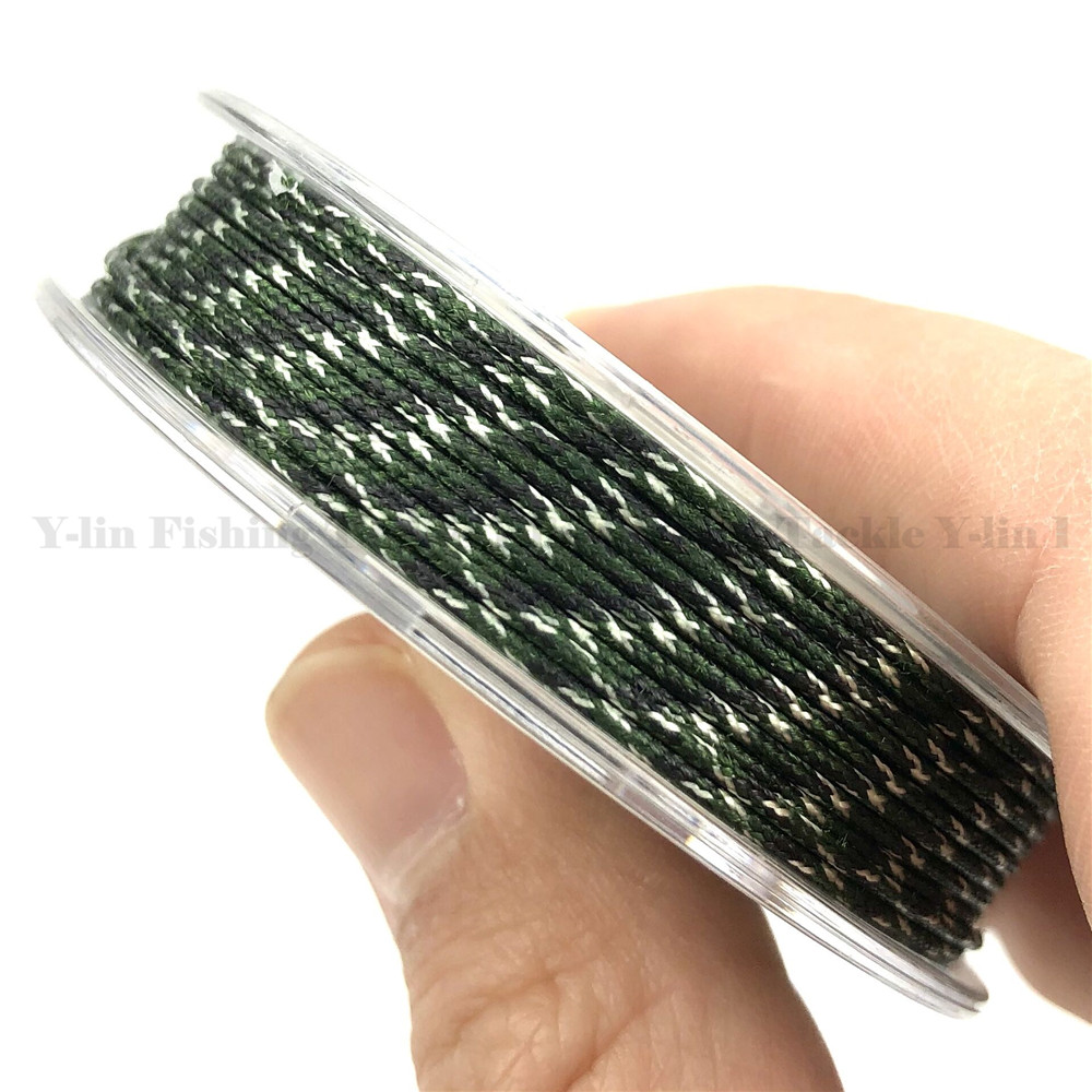 Brown 25lb Rigs 25lb Carp Fishing Easy to use UK Coated Hook Link Braid Green