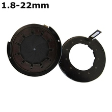 On sale 1.8-22 mm Amplifying Diameter Zoom Optical Iris Diaphragm Aperture Condenser 11 Blades for Digital Camera Microscope Adapter