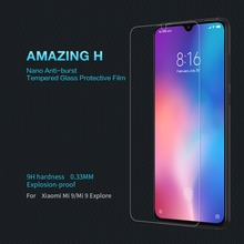 Tempered Glass For Xiaomi mi9 / mi9 Explore Screen Protector NILLKIN Amazing H Nano Anti-burst Protective Film For xiaomi mi 9
