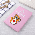 Для Apple ipad Mini 4 Дело Мягкие TPU Стенд Крышка Мультфильм медведь Флип Кожаный Tablet Чехол Для ipad Mini 4 Mini4 Fundas Coque