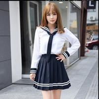 School Uniform Set Student Uniform Tie Sailor Suit Set Table Costume Japanese School Uniform Girl Autumn
