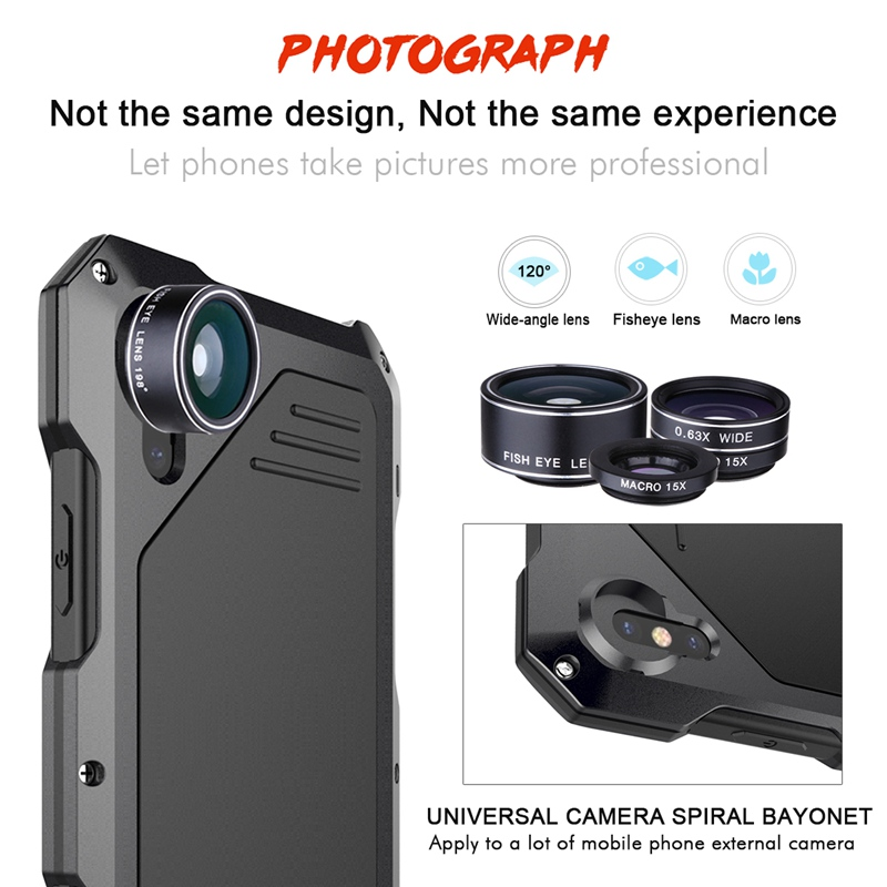 Fashion For Apple iphone X Case 360 Comprehensive Protection Outdoor Cover For Apple iphone 8 7 7 Plus Phone Case Anti Vibration