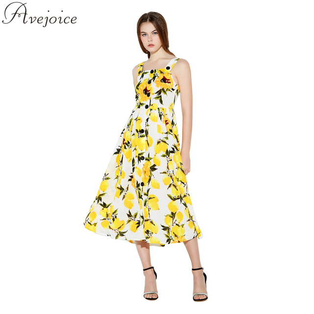 Yellow and white and floral and dress