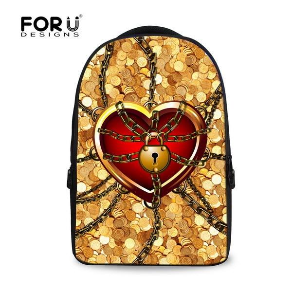 ФОТО new fashion 2017 print heart women backpack kids school bags for teenager big college flower schoolbag girls laptop mochila free