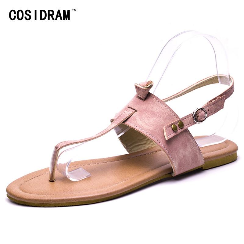 213f68089f5d9e Vinpovo Woman Fashion Thong Sandals Flip Flops Rhinestone Crosses Skull Rome  Buckle Women Flats Ladies Rivets Zip Female Shoes