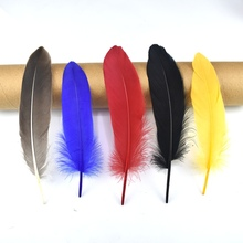 50pcs/lot Natural beautiful Goose Feather 5-8inch/15-20cm For Craft Hats Embellishments Floral Arrangement Material Accessories