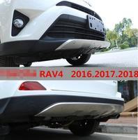 Авто бампера для TOYOTA RAV4 2016.2017.2018 высокое качество Нержавеющаясталь спереди + задний бампер автомобильные аксессуары