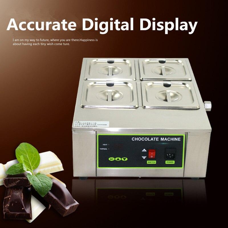 Commercial Digital Electric 4 - Cylinder Chocolate Melt Furnace Melt Machine for Heating Hot Stove melt banana japan