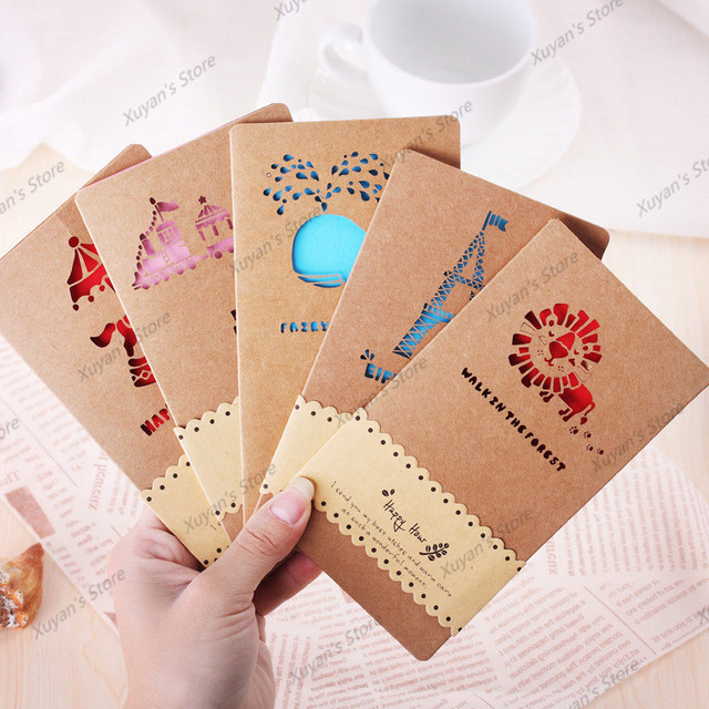 1pcs Christmas Cardskraft paper envelope Random DIY Graffiti Word