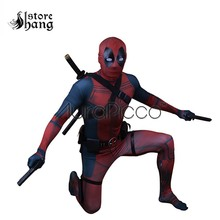 цена на Deadpool 2 Cosplay Outfit New Deadpool Costume 3D Printed Red Black Superhero Zentai Suit Accessories Adult Wade Wilson Cosplay