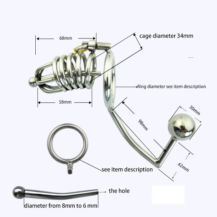 Fish hook in penis provides