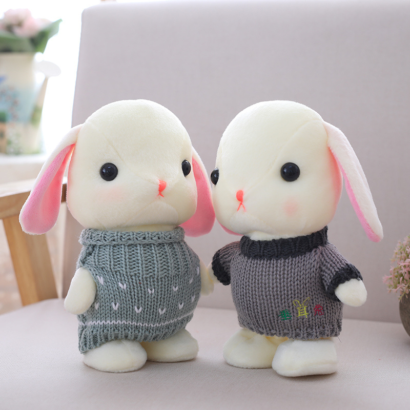 Cute 22cm Electric Plush Rabbit Can Walk And Repeat What You Said Multifunctional Toy Can Sing 72 Songs Bunny Rabbit Plush Doll