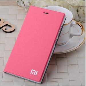 "Image 4 - Xiaomi mi4 Case Cover M4 MI 4 Luxury Slim Flip PU Leather Case Original size 5.0"" For Xiaomi Mi4 M4 Cover Bag screen protector"