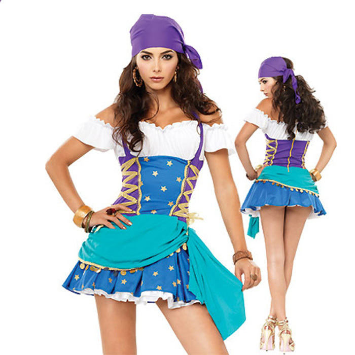 Sexy Elegant Princess Peach Costume Halloween Gypsy Girls Costumes