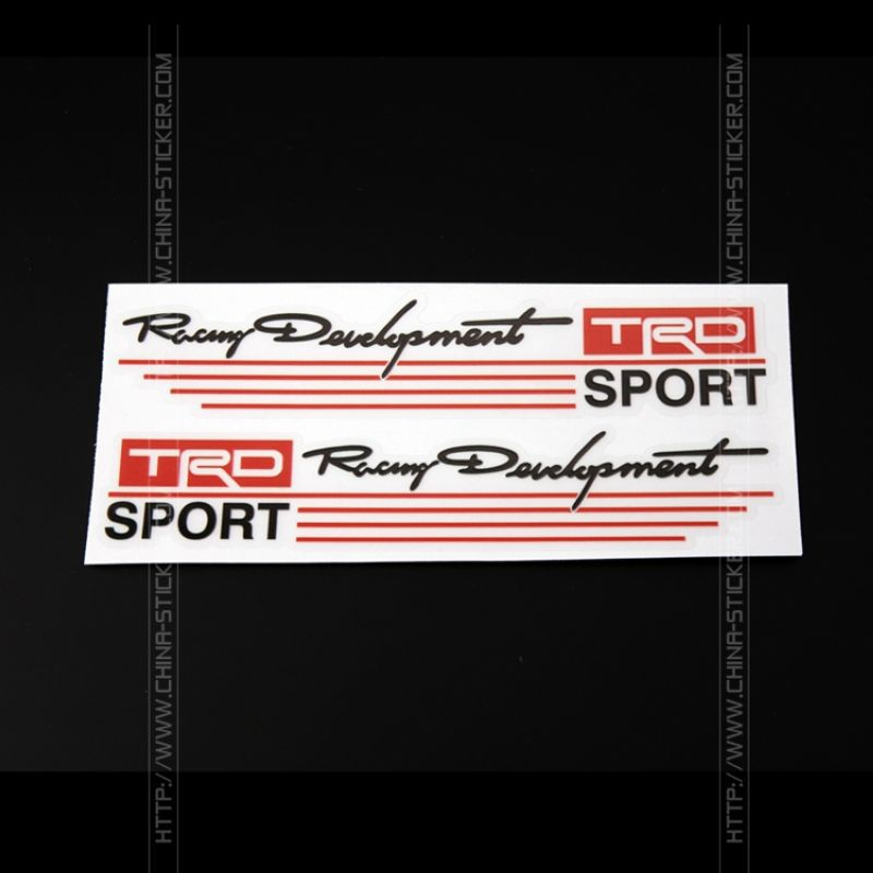Car styling 3D etiqueta engomada del vinilo TRD Sport espejo retrovisor pegatina