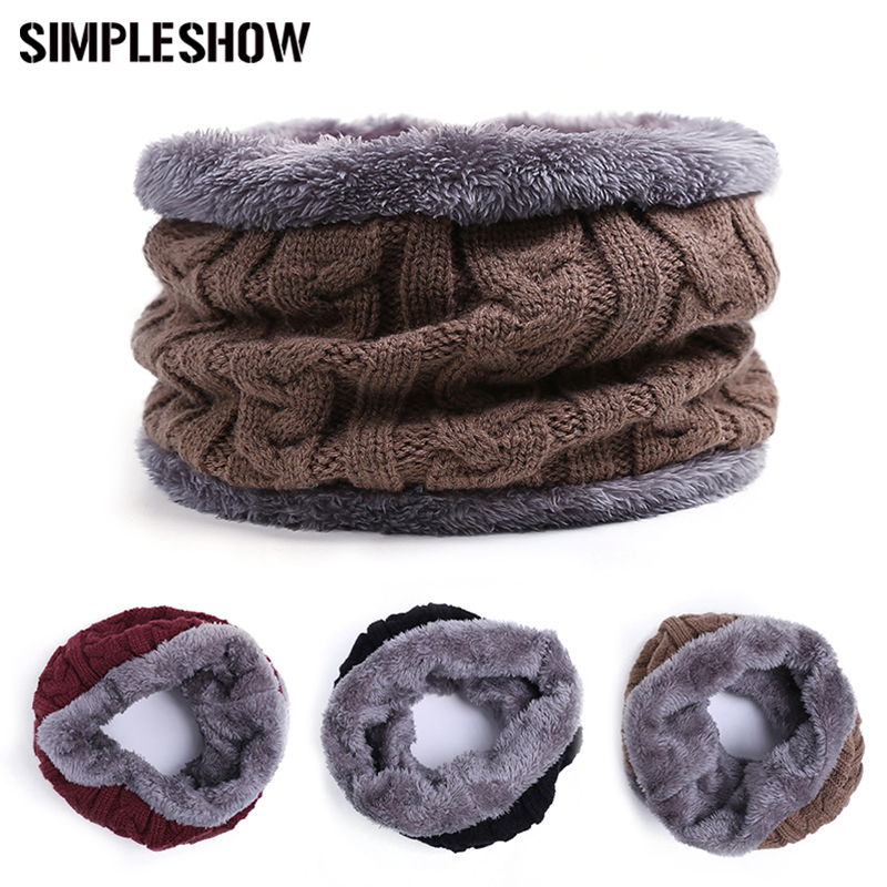 SIMPLESHOW Winter Women Wool Collar Man Neck Scarf Cotton