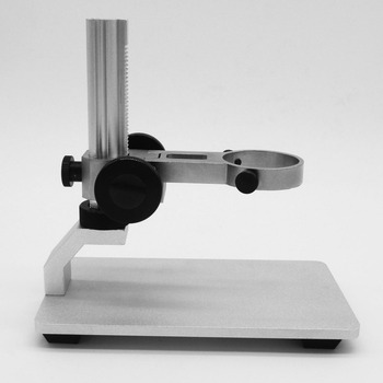 Aluminum Alloy Microscope Stand Portable Up and Down Adjustable Manual Focus Digital USB Electronic Microscope Holder luckyzoom stereo zoom microscope focus adjustment arm microscope head holder ring to stand post arbor microscope accessories