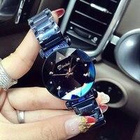New Brand Women Stainless Steel Watch Ladies Crystal Bright Star Bracelet Watches Dress Wristwatch Montre Femme reloj mujer 2018