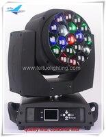Un-(2/lot) NOUVELLE bas prix ZOOM 19X15 W RGBW quad couleur LED abeille eye tête mobile