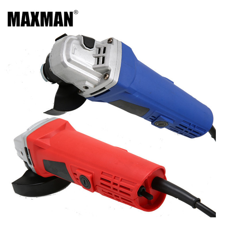 MAXMAN Electric Angle Grinder 780W Polisher Grinding Angular Power Tool for Grinding of Metal or Woodworking Machine kcchstar gold plating snake style crystal inlaid ring golden transparent us size 8