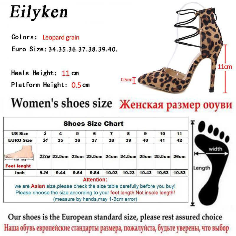 Eilyken Seksi Hayvan Baskı Leopar Sivri Burun Kadın Elbise Pompaları Yüksek Topuklu Parti Fermuar Ayakkabı İlkbahar/Sonbahar Pompaları boyutu 35-40