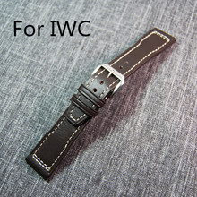 New Brown 21mm Genuine Leather Watch Strap Watchband Bracelet For IW Portofino C Pilot Portuguese Watch,Band and Clasp With LOGO