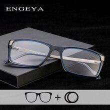 TR90 Men Clear Fashion Eyewear Brand Designer Optical Myopia Prescription Minus Glasses