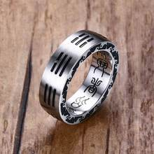 Heren Ringen Rvs Chinese Stijl Taoïstische Tai Chi Bagua Lucky Gebed Ring Mannen Mode-sieraden Accessoires Anel Aneis Bague(China)