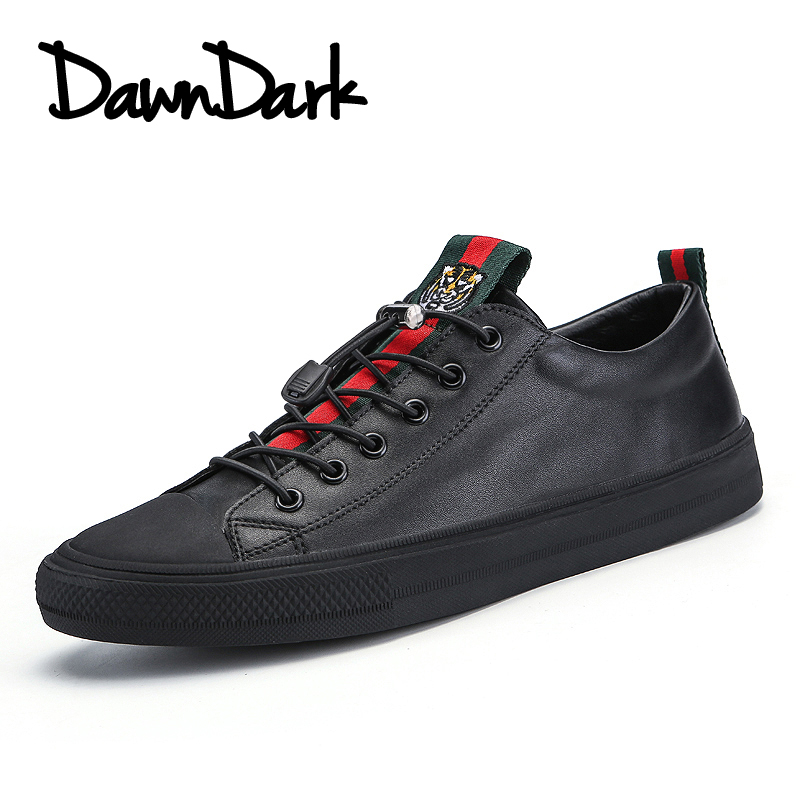 Leather Casual Shoes Men Brand Lace Up Male Flats Walking Shoes Black White Spring Summer Man Fashion Split Leather Footwear urbanfind men lace up casual shoes black white blue eu size 39 44 brand fashion men leather footwear for spring autumn