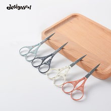 New Colorful Makeup Scissors Stainless Steel Sharp Tip Eyebrow Scissors Manicure Face Hair Trimming Tweezer Make Up Beauty Tools